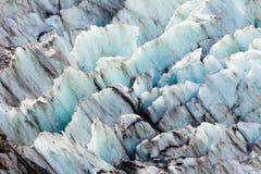背景蓝色冰川冰模式纹理 免版税库存图片