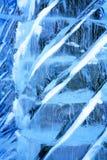 背景蓝色冰排行模式 库存照片