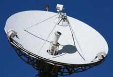 背景蓝色卫星白色 图库摄影