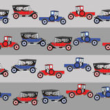 背景蓝色和红色两部动画片减速火箭的汽车 库存图片