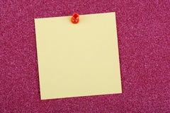 背景蓝色图画查出附注橙色针过帐红色 免版税库存图片