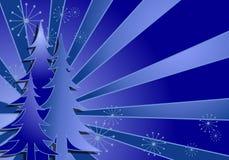 背景蓝色圣诞树 皇族释放例证