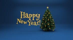 背景蓝色圣诞树 库存照片