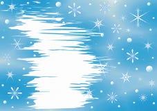 背景蓝色圣诞节云彩颜色构成包括的剥落梯度小山水平更低我的部分投资组合富有请看到剪影天空雪云杉正方形那里冠上结构树冬天 库存例证