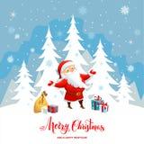 背景蓝色圣诞节云彩颜色构成包括的剥落梯度小山水平更低我的部分投资组合富有请看到剪影天空雪云杉正方形那里冠上结构树冬天 向量例证