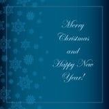 背景蓝色圣诞节例证雪花向量 免版税库存图片