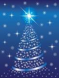 背景蓝色圣诞节冷杉 向量例证