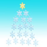 背景蓝色圣诞节雪花 免版税库存图片