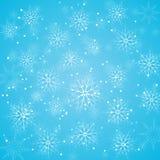 背景蓝色圣诞节雪花 库存例证