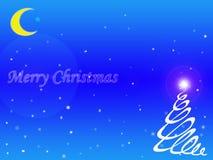 背景蓝色圣诞节雪雪花 库存照片