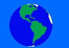 背景蓝色地球绿色 库存图片