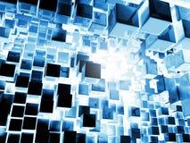 背景蓝色多维数据集 库存照片