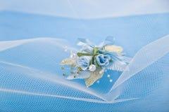 背景蓝色婚礼 免版税库存照片