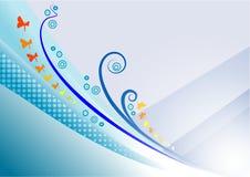 背景蓝色庭院 免版税图库摄影