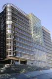 背景蓝色建筑新的天空 库存照片