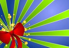 背景蓝色弓圣诞节礼品绿色 皇族释放例证
