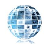 背景蓝色数字式未来派电视 库存例证