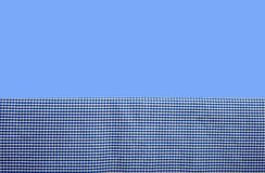 背景蓝色方格花布 库存照片
