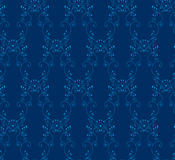 背景蓝色无缝的维多利亚女王时代的&# 免版税库存图片