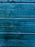 背景蓝色木 老木墙壁表面  图库摄影