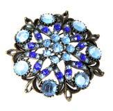 背景蓝色查出的珠宝白色 库存图片