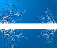 背景蓝色框架文本 库存图片