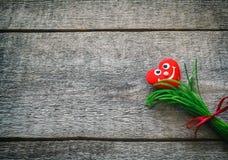 背景蓝色框概念概念性日礼品重点查出珠宝信函生活纤管红色仍然被塑造的华伦泰 图库摄影