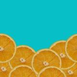 背景蓝色桔子 图库摄影