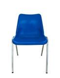 背景蓝色椅子塑料白色 免版税库存图片