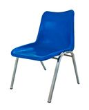 背景蓝色椅子塑料白色 图库摄影