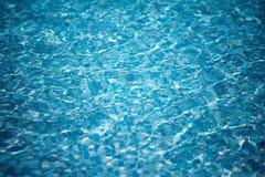 背景蓝色池纯水 免版税库存照片