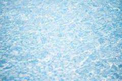 背景蓝色池纯水 图库摄影