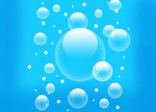 背景蓝色泡影 库存图片