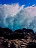 背景蓝色波纹水 免版税库存照片