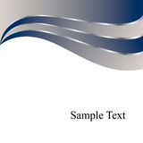 背景蓝色漩涡向量 免版税库存图片