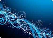 背景蓝色漩涡 向量例证