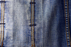 背景蓝色牛仔布牛仔裤纹理 免版税库存图片