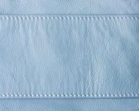 背景蓝色皮革纹理 免版税库存图片