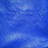 背景蓝色皮革 库存照片