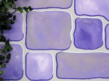 背景蓝色砖动画片柔和的淡色彩 免版税库存照片