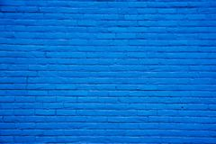 背景蓝色砖墙 库存图片