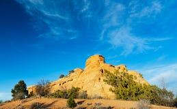 背景蓝色科罗拉多纪念碑国民天空 库存图片