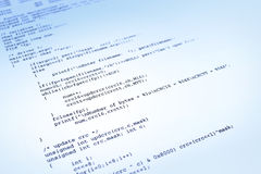 背景蓝色程序软件 免版税库存照片