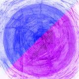 背景蓝色紫色水彩 库存例证