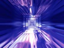 背景蓝色紫色 库存例证