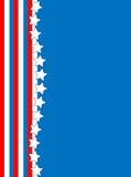背景蓝色红色星形镶边向量白色 免版税库存照片