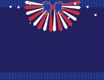 背景蓝色红色白色 免版税库存照片