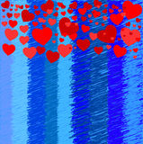背景蓝色红色 免版税库存照片