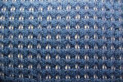 背景蓝色编织了 免版税图库摄影