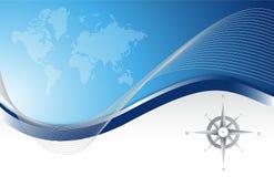 背景蓝色航海图 免版税库存照片